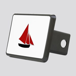 Red Sail Boat Hitch Cover