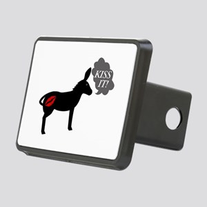 Donkey Says Kiss It With K Rectangular Hitch Cover