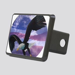 freedom eagle round 2 Rectangular Hitch Cover
