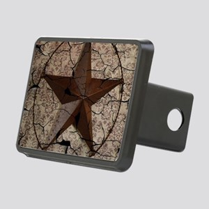 rustic texas lone star Rectangular Hitch Cover