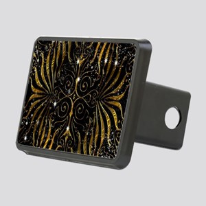 Black and Gold Victorian S Rectangular Hitch Cover