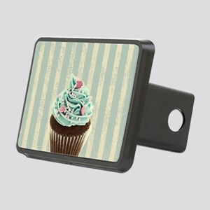 retro pattern cute cupcake Rectangular Hitch Cover