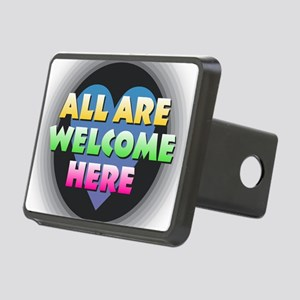 All Are Welcome Here Rectangular Hitch Cover