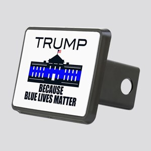 Trump men in blue Rectangular Hitch Cover