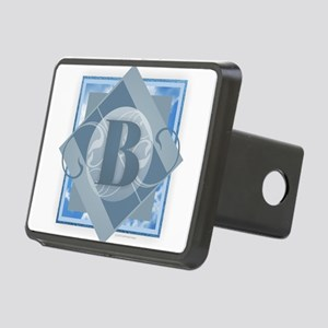 B Monogram - Letter B - Bl Rectangular Hitch Cover