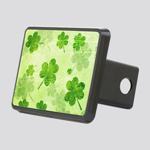 Green Shamrock Pattern Rectangular Hitch Cover