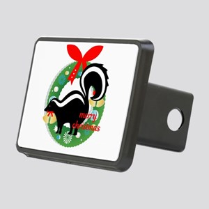 merry christmas skunk Rectangular Hitch Cover