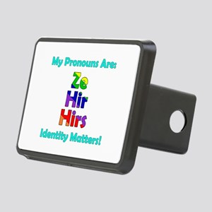 Ze Hir Hirs Pronouns Rectangular Hitch Cover