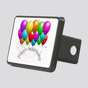 Happy Anniversary Balloons Rectangular Hitch Cover