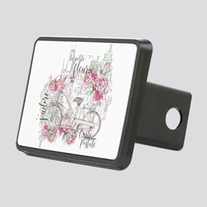 Shabby Chic Bicycle Peony Rectangular Hitch Cover