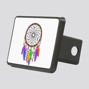 Dreamcatcher Rainbow Feath Rectangular Hitch Cover