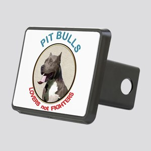 Pit Bull Lovers not Fighte Rectangular Hitch Cover