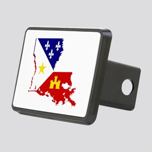 Acadiana State of Louisian Rectangular Hitch Cover