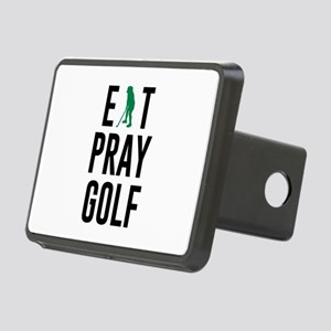 Eat Pray Golf Golfers Drea Rectangular Hitch Cover