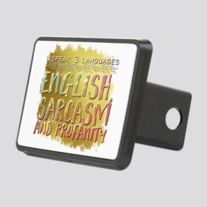 I speak 3 languages. Engli Rectangular Hitch Cover