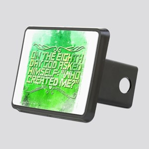 On The Eighth Day God Aske Rectangular Hitch Cover