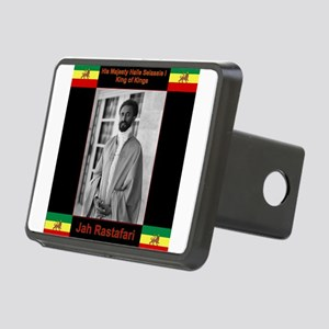 Haile Selassie I Jah Rasta Rectangular Hitch Cover