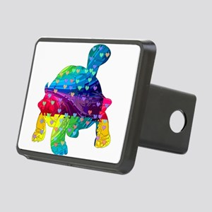Rainbow Turtle With Multic Rectangular Hitch Cover