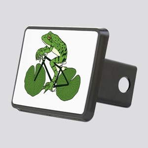 Frog Riding Bike With Lily Rectangular Hitch Cover