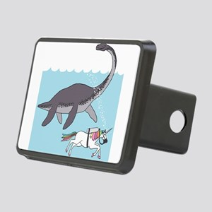 Loch Ness Monster Swimming Rectangular Hitch Cover