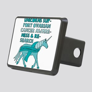 Unicorns Support Ovarian C Rectangular Hitch Cover