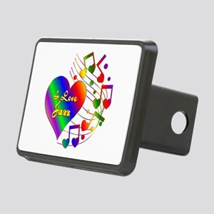I Love Jazz Rectangular Hitch Cover
