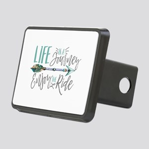 Bohemian Typography Life I Rectangular Hitch Cover