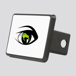 Green eye kiwi watch Rectangular Hitch Cover