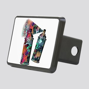 Graffiti and Paint Splatte Rectangular Hitch Cover