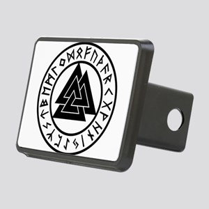 Vintage Valknut Rectangular Hitch Cover