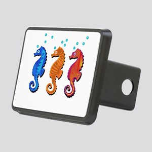 Three seahorses Rectangular Hitch Cover