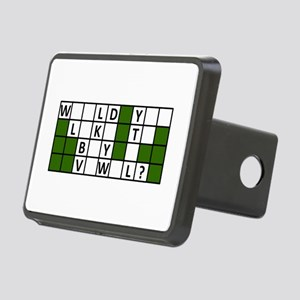 buy_a_vowel_dark Rectangular Hitch Cover