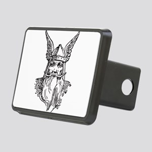 Viking Woodcut Rectangular Hitch Cover