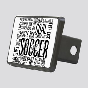 Soccer Word Cloud Rectangular Hitch Cover