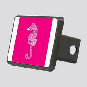 Hot Pink Seahorse Rectangular Hitch Cover