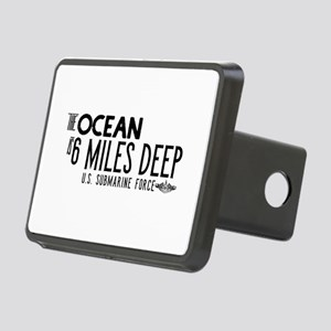 The Ocean is 6 Miles Deep Rectangular Hitch Cover