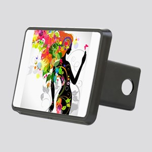 Psychedelic woman Rectangular Hitch Cover
