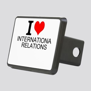 I Love International Relations Hitch Cover