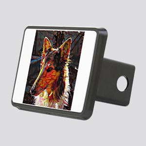 Rough Collie: A Portrait i Rectangular Hitch Cover