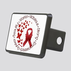 Red Awareness Ribbon with Rectangular Hitch Cover