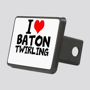 I Love Baton Twirling Hitch Cover