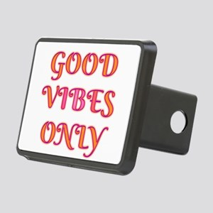 Good Vibes Only Rectangular Hitch Cover