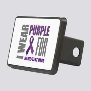 Purple Awareness Ribbon Cu Rectangular Hitch Cover