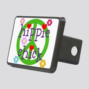 HIPPY CHICK - PEACE LOVE H Rectangular Hitch Cover