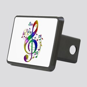 Colorful Treble Clef Rectangular Hitch Cover