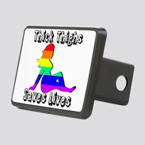 Thick Thighs Save Lives Gay Pride Hitch Cover