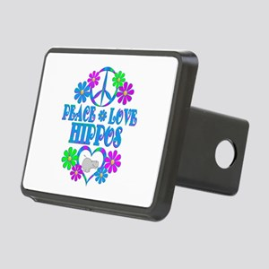 Peace Love Hippos Rectangular Hitch Cover