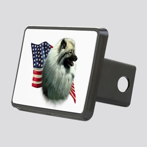 KeeshondFlag Rectangular Hitch Cover