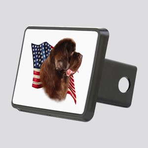NewfbrownFlag Rectangular Hitch Cover