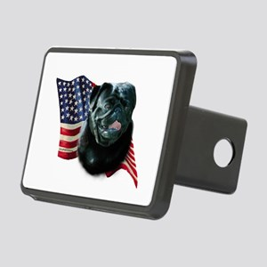 PugblackFlag Rectangular Hitch Cover